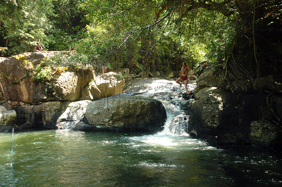 Air terjun Sekongkang, sumber air bersih untuk 3 desa di bawahnya